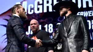 Un McGregor beaucoup plus réservé face à «Cowboy»