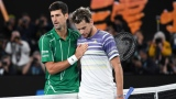 Novak Djokovic et Dominic Thiem