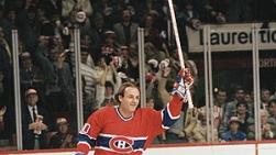 Guy Lafleur lors de la cérémonie du 16 février 1985