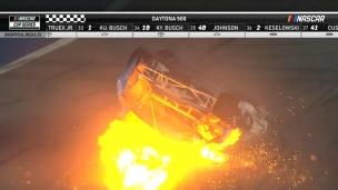 Accident inquiétant au dernier tour du Daytona 500