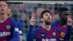 Match de 4 buts pour Lionel Messi