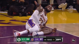 Petite inquiétude pour LeBron James