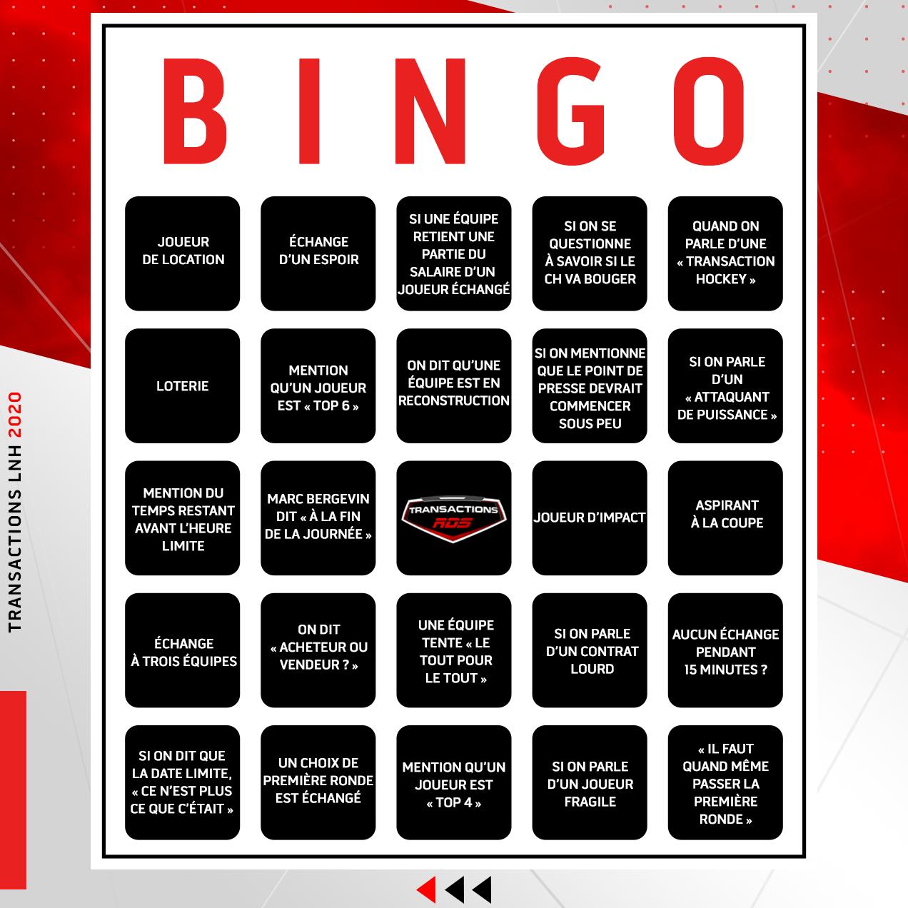 Bingo Transactions LNH