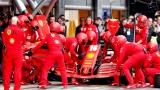 Des membres de l'équipe Ferrari