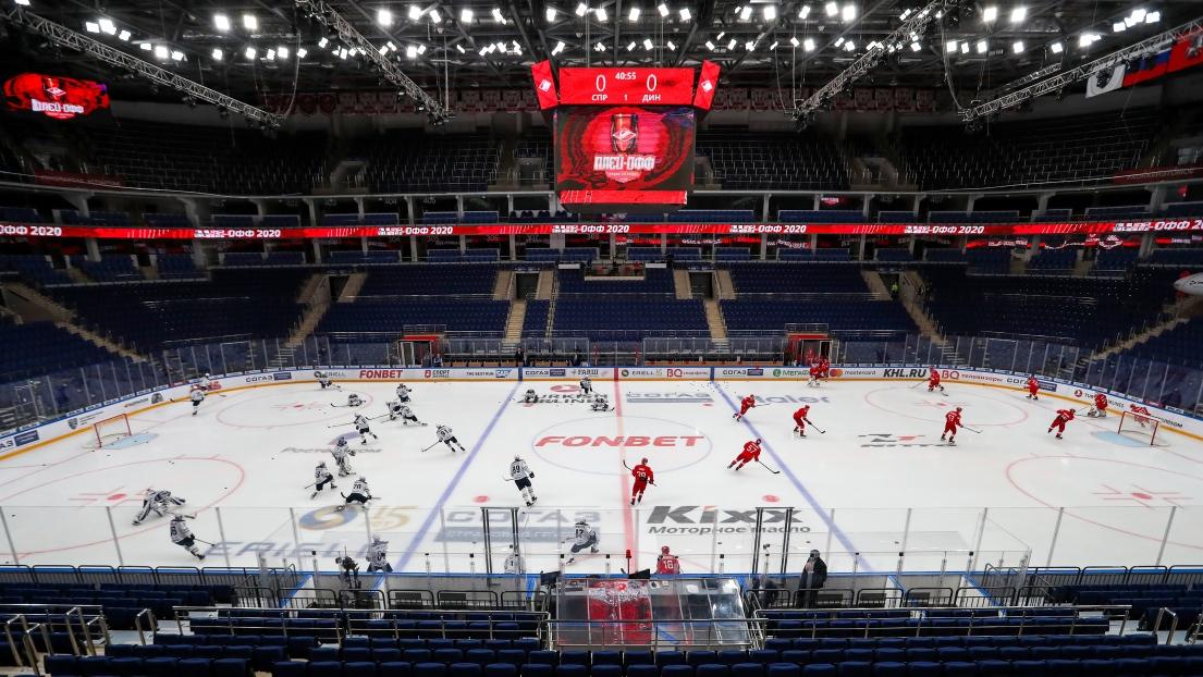 Des gradins vides au CSKA Arena