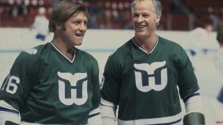 Bobby Hull et Gordie Howe