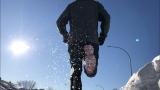 Photo de moi, parcourant les rues enneigées de Baie-Comeau en 2019.