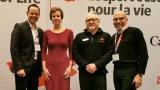 Jean-Luc Brassard, Vicki Walker, Richard Way et Sylvain Croteau