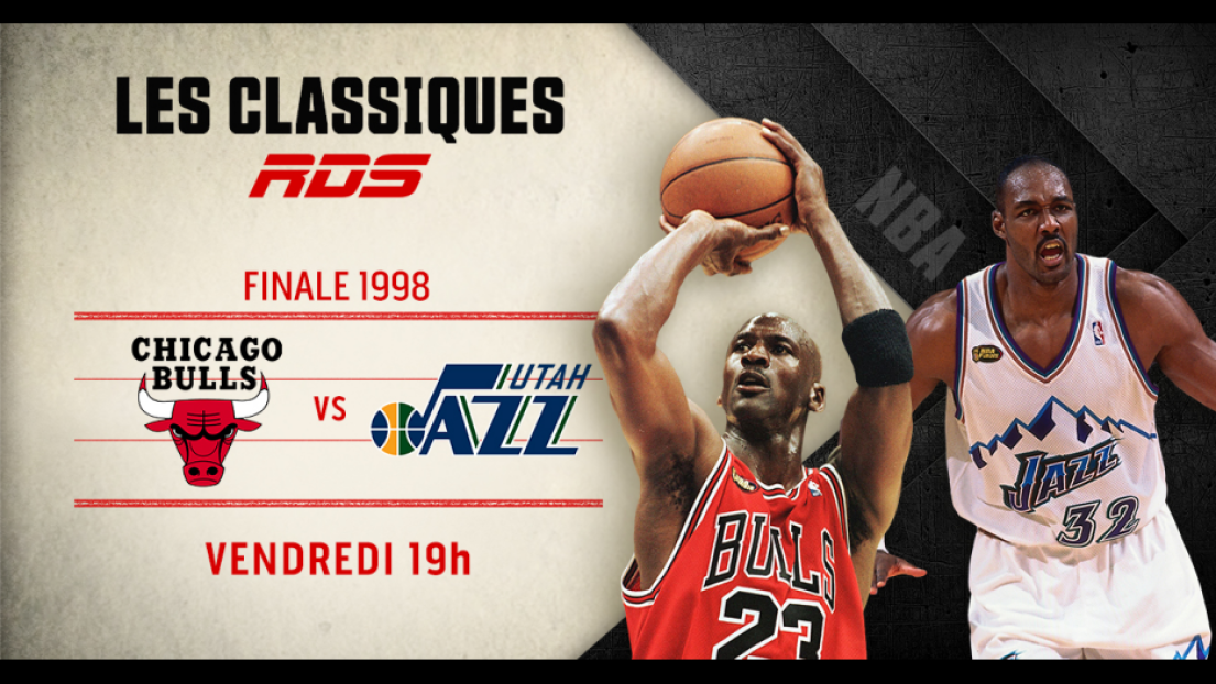 Sur nos ondes le 22 mai: le dernier match de Jordan avec les Bulls