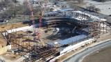 Le Belmont Park Arena en construction
