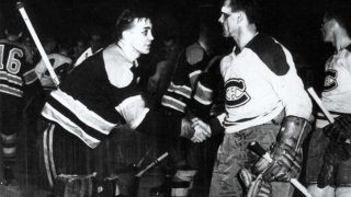 Maurice Richard et Jim Henry