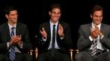 Novak Djokovic, Rafael Nadal et Roger Federer.