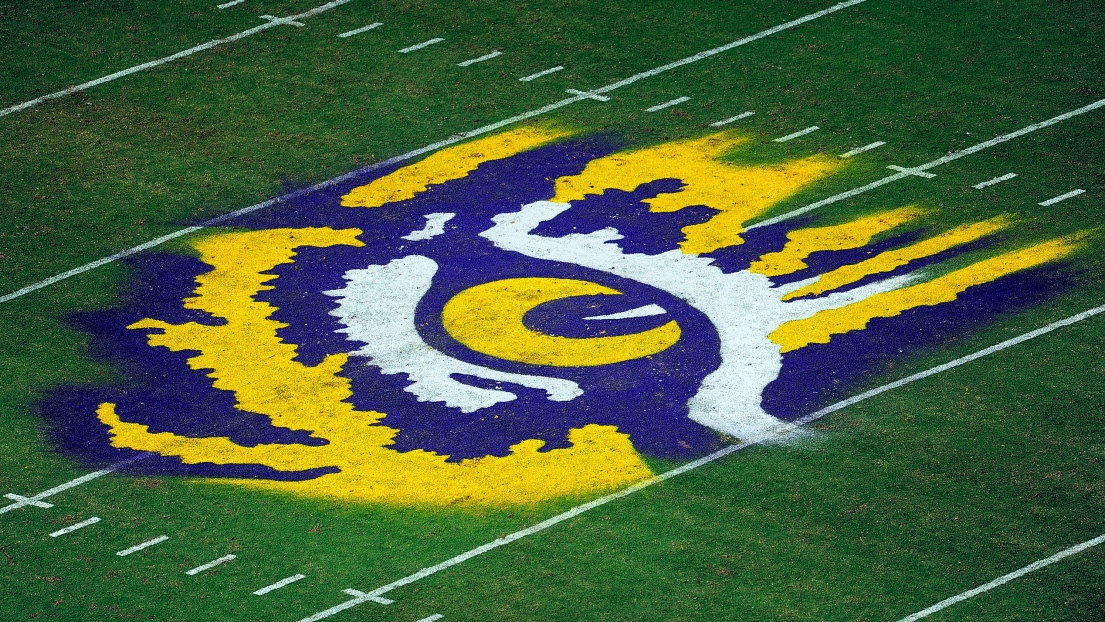 Le terrain de football de LSU