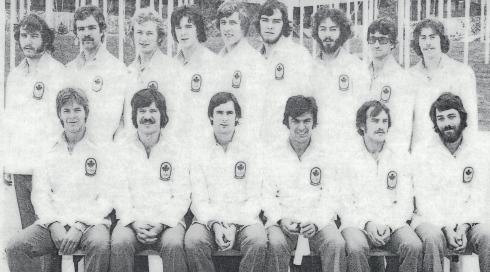 L'équipe olympique canadienne de handball en 1976