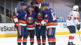 Anthony Beauvillier, Derick Brassard, Devon Toews, et Josh Bailey.