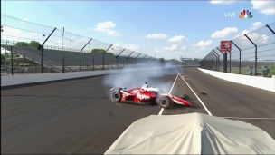 Accident important à la fin du Indy 500
