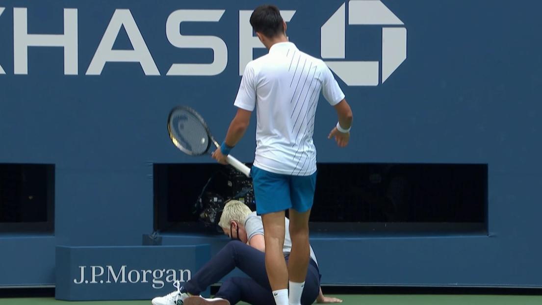 Novak Djokovic disqualifié — US Open
