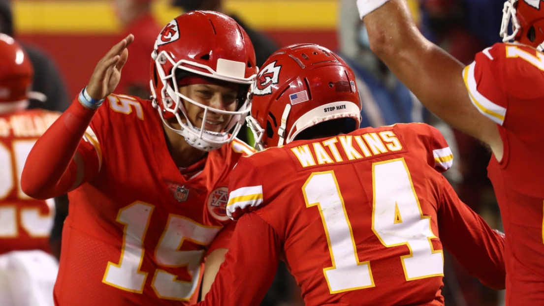 Patrick Mahomes et Sammy Watkins