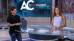 Mikaël Kingsbury et Aurélie Rivard dans l'Antichambre