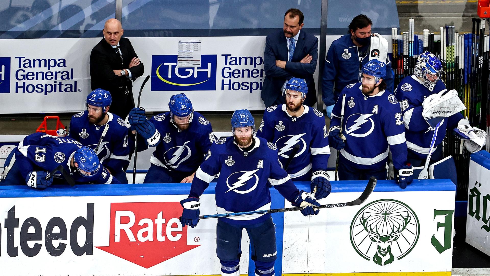 Les joueurs du Lightning de Tampa Bay