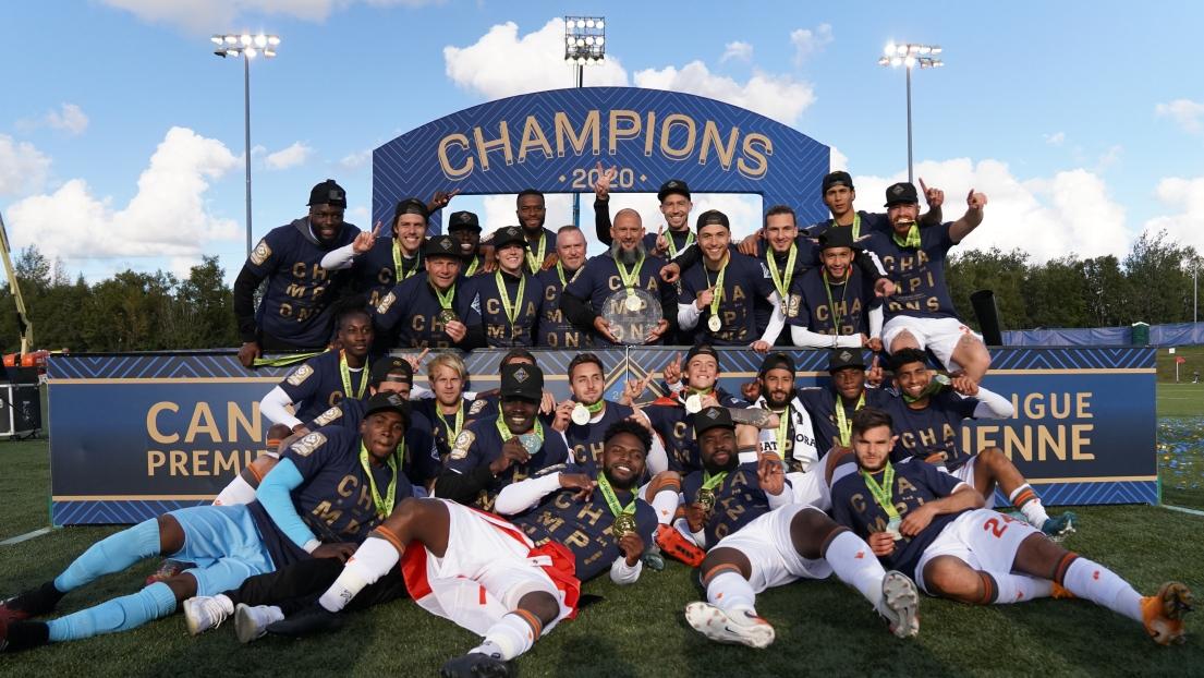 Le Forge FC de Hamilton, champions 2020 dans la CPL