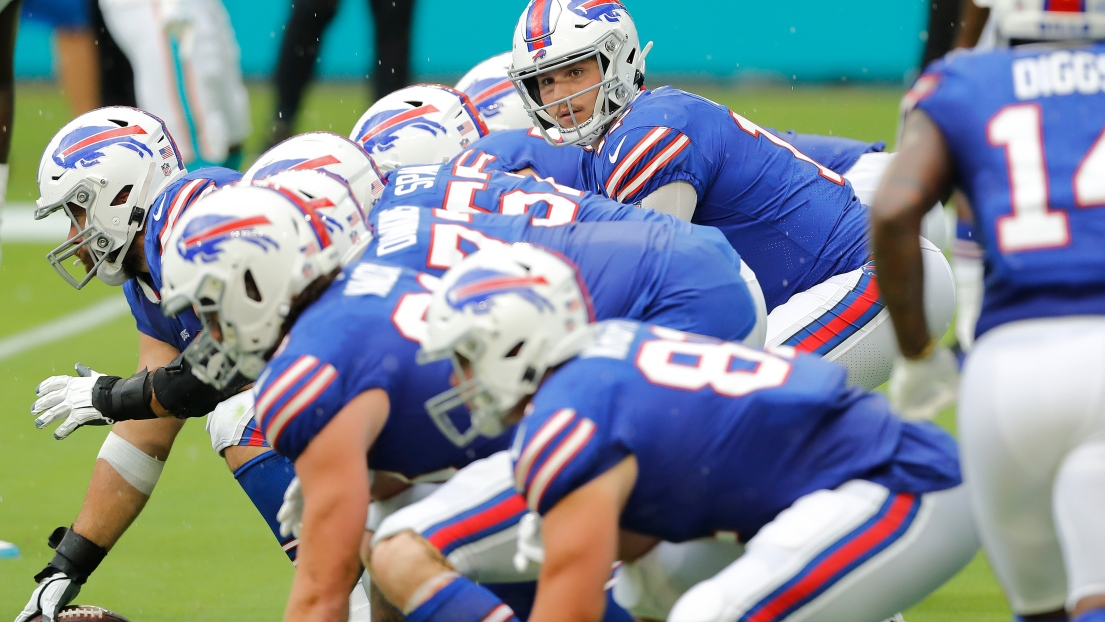 Josh Allen et la ligne offensive des Bills