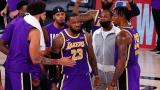 LeBron James et ses coéquipiers des Lakers