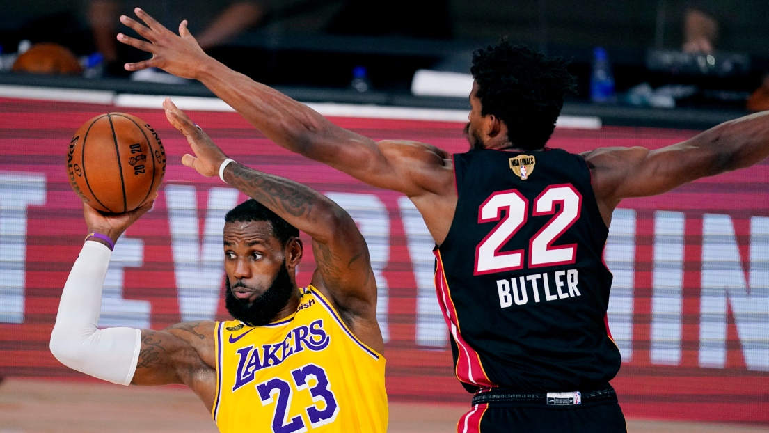 LeBron James et Jimmy Butler