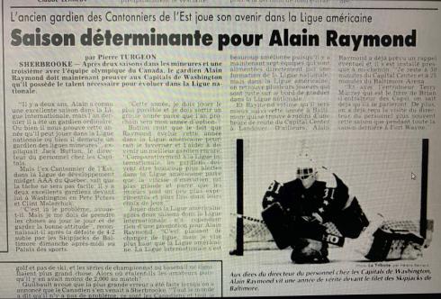 Alain Raymond dans La Tribune le 11 octobre 1988