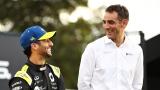Daniel Ricciardo et Cyril Abiteboul