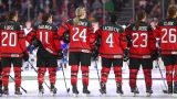 Des joueuses d'Équipe Canada