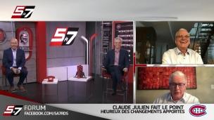 Forum : Claude Julien heureux des changements