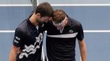 Novak Djokovic et Filip Krajinovic