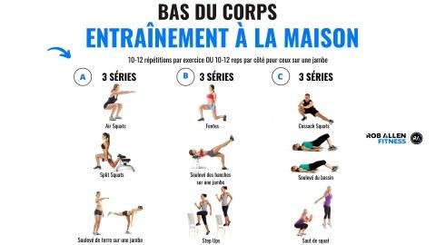 Exercices simples pour entraîner les jambes
