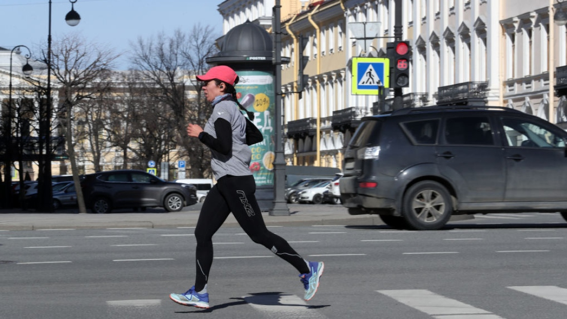 Une joggeuse