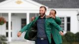 Dustin Johnson et Tiger Woods