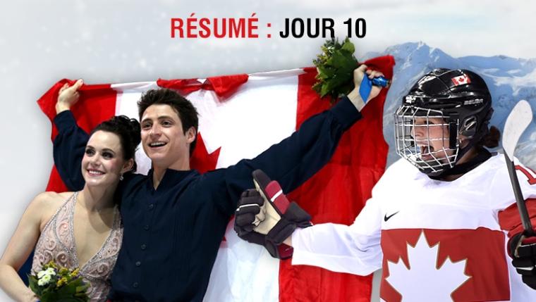 Résumé olympique jour 10