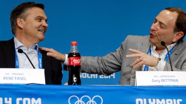 René Fasel et Gary Bettman