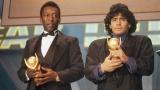 Pelé et Diego Maradona