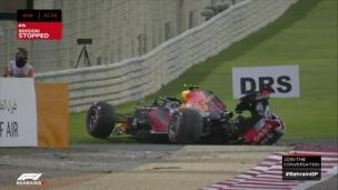 Alex Albon victime d'un accident lors des essais à Bahrein