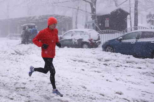 Un coureur dans la tempête
