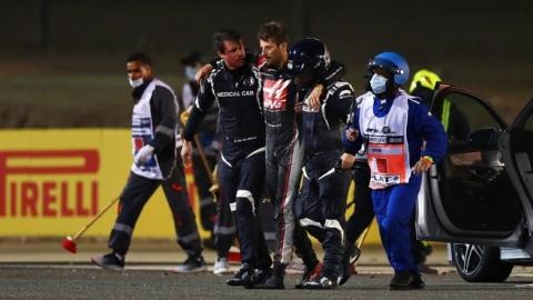 Grosjean au volant 3 mois après un accident