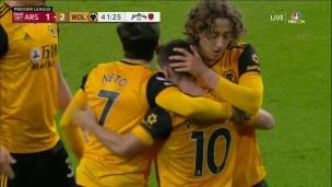 Arsenal 1 - Wolverhampton 2