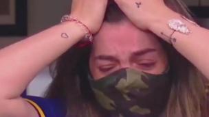 La fille de Diego Maradona émue aux larmes