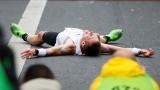 Un marathonien épuisé