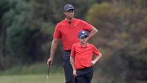 Woods père et fils terminent au 7e rang