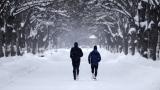 Deux coureurs en hiver