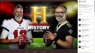 Brady c. Brees : l'histoire nous attend!