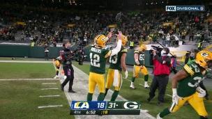 Rodgers porte un dur coup aux Rams avec une bombe