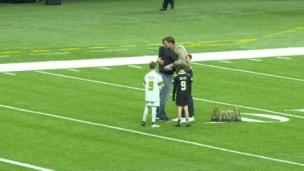 Tom Brady salue Drew Brees et sa famille